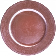 """13"""" Round Pink Beaded Plastic Charger Plate"""