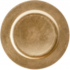 """13"""" Gold Round Plastic Charger Plate"""
