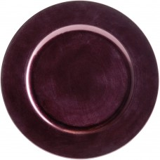 """13"""" Round Purple Plastic Charger Plate"""