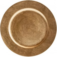 """13"""" Round Gold Plastic Charger Plate"""