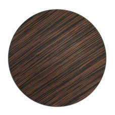 "13"" Round Brown Pine Faux Wood Plastic Charger Plate"