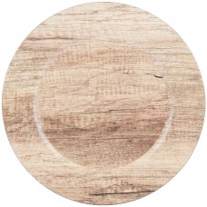 """13"""" Round Poplar Faux Wood Melamine Charger Plate"""