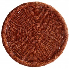 "13 3/4"" Honey Round Rattan Charger Plate"