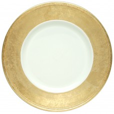 """13"""" Round Gold Rim Plastic Charger Plate"""