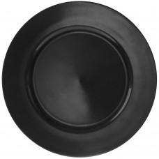 """13"""" Lacquer Round Black Charger Plate"""