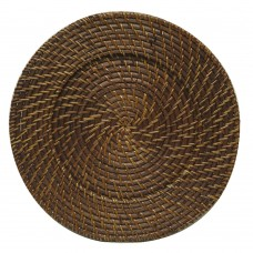 """13"""" Round Chestnut Rattan Charger Plate"""