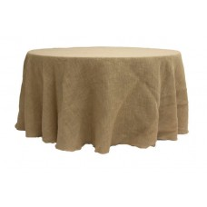 "Burlap Tablecloth 120"" Round"