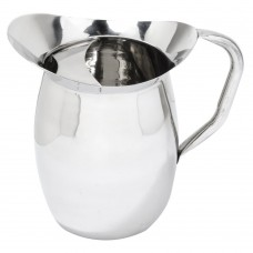 Stainless Steel Bell Pitcher with Ice Guard 3 Qt.